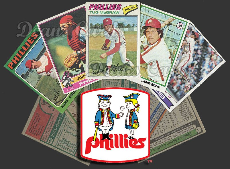 1975 Topps  -79  Philadelphia Phillies Team Starter Set / Lot - Md